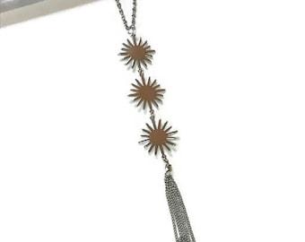 Statement Necklace | starburst Statement Necklace | star Necklace | Silver Necklace