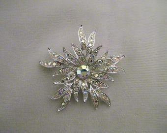 Vintage Sarah Coventry Rhinestone Pin Brooch