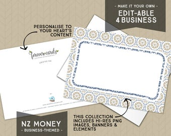 Editable for Business   NZ Money Theme   Neutral   Entrepreneur   Finance    Forever Cards   Single Use License included   Instant Download
