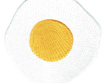 Fried Egg Iron On Patch Embroidered Applique