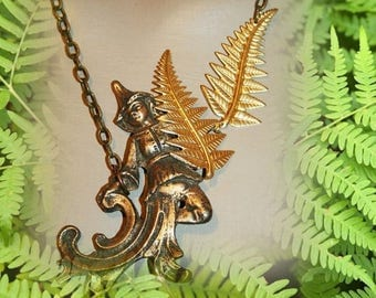 Baroque necklace - woodland Elf