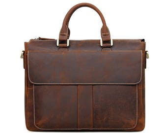 "Messenger Bag for 15 ""laptops made of genuine leather"
