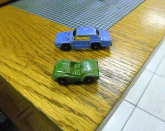 Two Old Made In Chicago Die Cast Tootsie Toy Cars