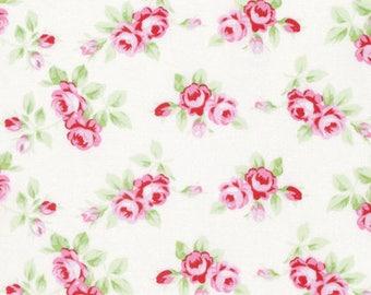 Rambling Rose Rosebuds in white-by Tanya Whelan-ONE yard