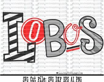 Lobos SVG, Cut file, Cheer svg, School spirit, socuteappliques, SvG Sayings, football svg, football sister svg, football mom svg