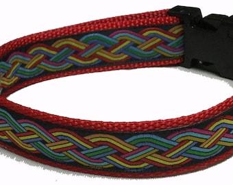 Dog Collar, Celtic - Multi Colors