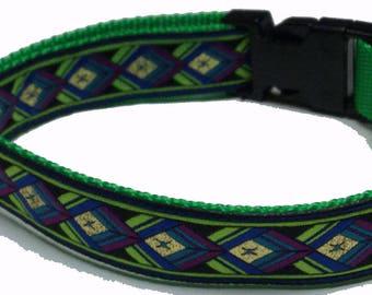 Dog Collar, Diamonds Neon Green