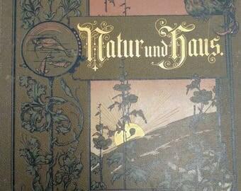 Natur und Haus 1897 antique book
