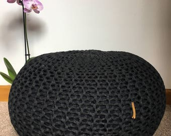 Hand knitted pouf/footstool REDUCED until midnight tonight 19th July 2017 !!!!