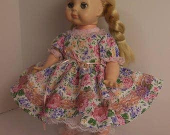 "Pink Floral Dress Set for 14"" Vogue Littlest Angel Dolls"