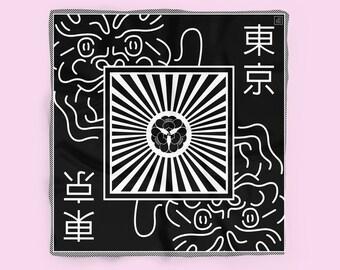 Mother of Dragons Silk Neckerchief // Square neckerchief scarf