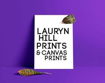 Lauryn Hill Art Print, Realsitic Art, Queen, Celebrity Portrait Art Decor, Black Queen Print, Art Portrait, lauryn hill