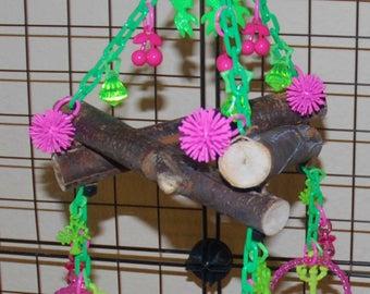 Sugar Glider Toy- Eucalyptus Triangle Swing with Bracelets