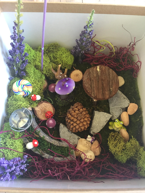 Purple Fairy Garden Kit Medium