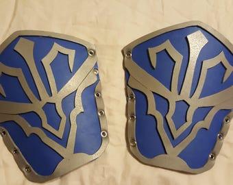 Blue Elvish Inspired Armor bracers for cosplay
