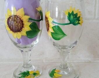Sunflower - Wine Glasses