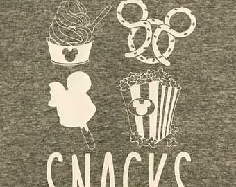 """Disney Inspired T-Shirts, """"I'm Just Here for the SNACKS"""" T-Shirt, Disney, Women's Disney Shirts, Men's Disney Shirts"""
