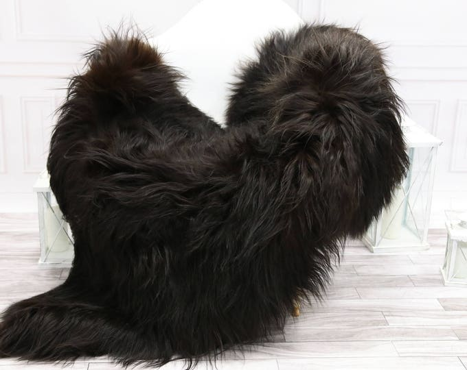 Icelandic Sheepskin | Real Sheepskin Rug | Chocolate Brown Sheepskin Rug | Fur Rug | #islsept14