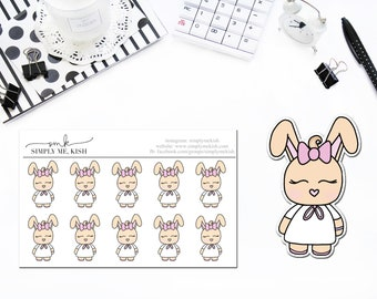Aly The Bunny Stickers or Die Cuts