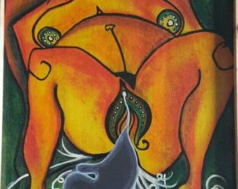 "Original painting ""Birthing"""