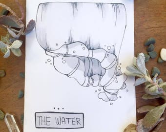 The water - 8 page hand made zine