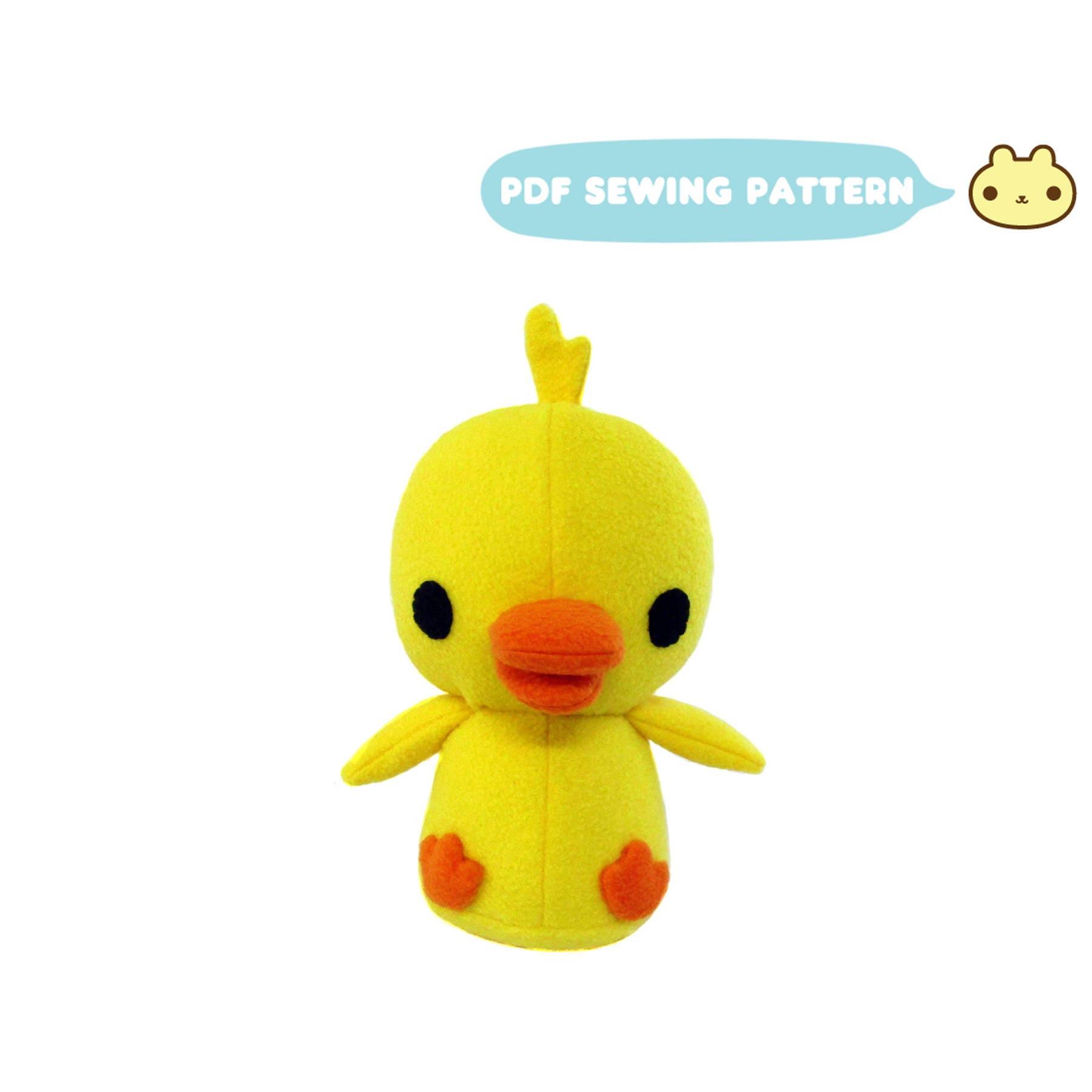 Plush Duck Pattern Duck Plush Sewing Pattern Stuffed Duck