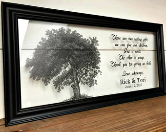 Wedding Gifts for Parents, Gifts for Parents, Mother of the Groom Gift, Parents of the Groom Gift, Father of the Bride Gift, A192c