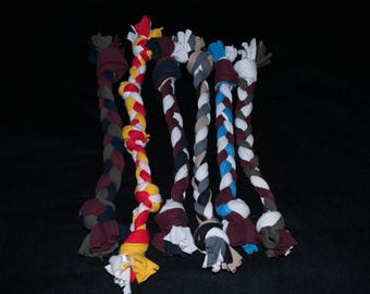 Recycled T-Shirt Dog Toy, Rope Toy, Dog Rope