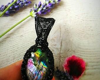 Purple rainbow labradorite