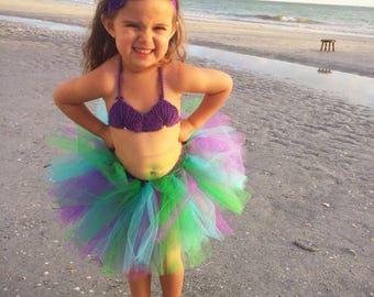 Mermaid tutu, Mermaid costume, baby girl tutu, Newborn photo prop, First birthday tutu, Newborn tutu, Gift for girls, Toddler tutu