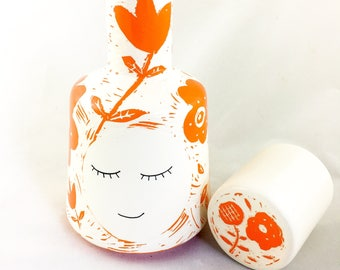 Ceramic Water Jug - Personalised Water Bottle - Water Pitcher - Ceramics and Pottery