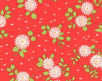 Happy Go Lucky Red Mums by Bonnie & Camille for Moda Fat Quarter/Yardage OOP HTF