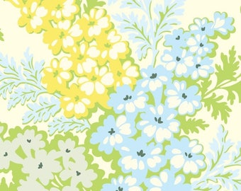 Nicey Jane  Picnic Bouquet in Sky Original 2009 by Heather Bailey for Free Spirit Fabrics  OOP HTF