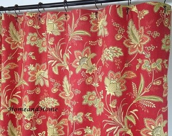 Waverly Coral Fabric Etsy