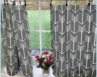 Valance Cafe curtains Curtain Valance Grey Valance Topper Kitchen Cafe curtains Window Valance Window curtains Kitchen valance arrow valance
