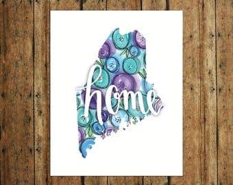 HOME | Maine | Digital Print | Calligraphy | Watercolor