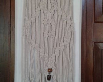 A bohemian Macrame wall hanging / wall decor handmade/ boho macrame wall art / rope art / room decor / natural wall hanger/