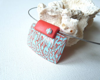 """Pendant, polymer, multicolored """"write the moment"""""""