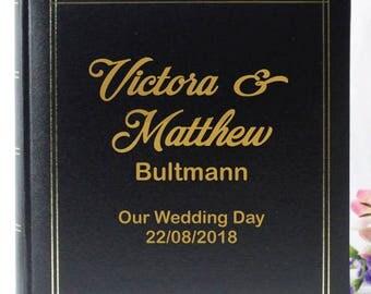 Personalised Wedding Photo Album - Black