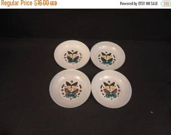 """On Sale Georges Briard Butterfly Signed Small 5"""" Berry Bowls set of Four (4)"""