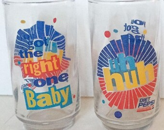 Diet Pepsi Vintage Glass Uh Huh You Got The Right One Baby - Last One
