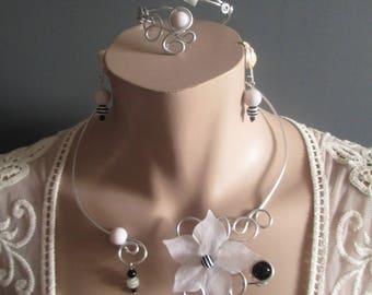 """Breizh atao"" set necklace + earrings + bracelet"
