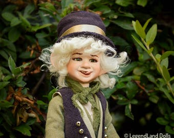 Boy doll Housewarming Gift collectible doll goblin doll porcelain doll poseable elf art doll fantasy decor home decoration LIMITED EDITION