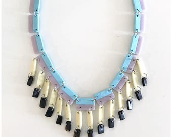 Project Runway inspired necklace - inspired by a winning design by Erin from season 15 - handmade with polymer clay