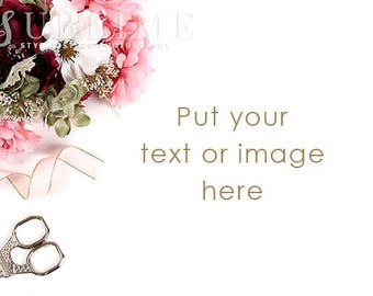 Styled Stock Photography / Styled Desktop / Social Media / Digital Image / Flowers, Floral / Photo Background / Stock Photo / StockStyle-909