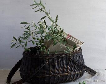 Black French Handled Basket