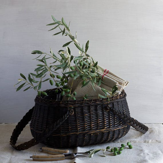 Black French Handled Basket