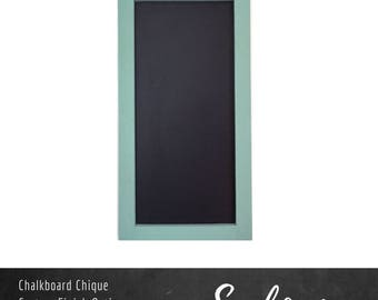 """Custom Color Chalkboard   12"""" x 24""""   Rectangle Chalkboard with Pine Frame   Wall Mounted Chalkboard   Standard Collection"""