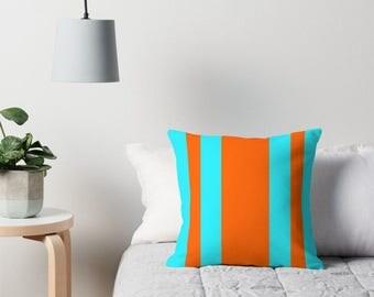 Teal Orange Pillow, Teal Orange Decorative Pillow, Teal Orange Abstract Pillow, Teal Orange Throw Pillow, Teal Orange Pillow Case, Teal Room