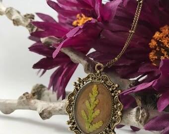 Plant Necklace, Pressed Flowers, Real Flower Jewelry, Evergreen, Plant Jewelry, Hippie Gifts, Hippie Jewelry, Botanical Jewelry, Birthday